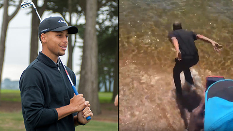 Steph Curry's Dad JUMPS into Lake Tahoe After Losing Golf Bet