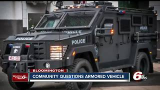 Bloomington residents concerned over police decision to buy armored vehicle - Video