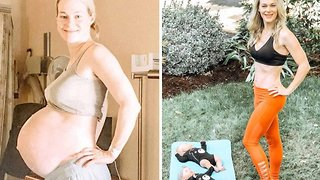 Mum of triplets reveals incredible body transformation five months after giving birth