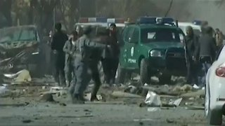 Suicide Car Bomb Explodes In Kabul, Leaving Nearly 100 Dead - Video
