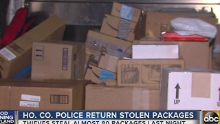 Howard County Police return stolen packages - Video