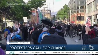 Protesters call for change