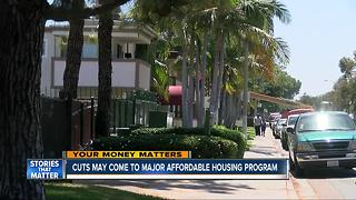 Cuts coming to major affordable housing program