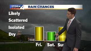 Chance of isolated showers - Video