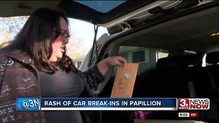 Rash of car break-ins in Papillion - Video