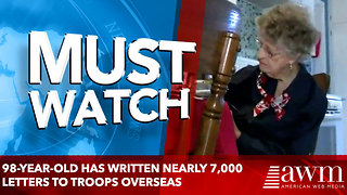 98-Year-Old Has Written Nearly 7,000 Letters To Troops Overseas - Video