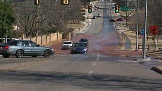 Roadway impassible after 21st and Peoria water main break - Video