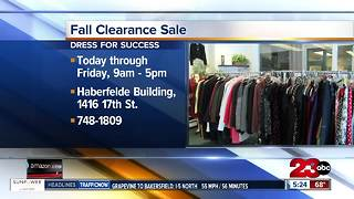 Dress for Success fall clearance sale starts Tuesday - Video