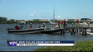 Man dies after being pulled from the water in West Palm Beach