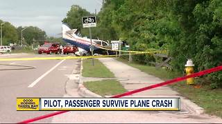 Pilot, passenger survive plane crash in Clearwater - Video