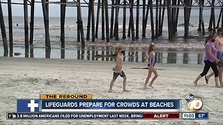 Lifeguards prepare for crowds at beaches