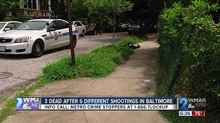 3 Dead After 6 Different Shootings in Baltimore - Video