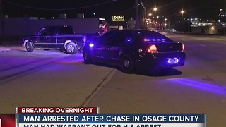 Man arrested after overnight chase in Osage County - Video