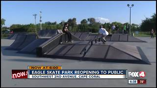 Eagle Skate Park reopens Saturday - Video