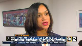 Baltimore City State's Attorney Marilyn Mosby officially files for re-election - Video