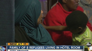 Family of 8 homeless, living in hotel room