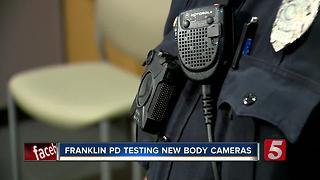 Franklin Police Testing New Body Cameras
