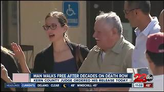 Man walks free from death row after decades in prison - Video
