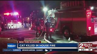 Family loses their home and cat after house fire - Video