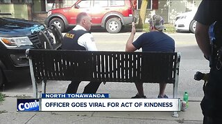 North Tonawanda officer goes viral for act of kindness