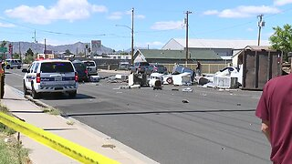Adult and child in critical condition after Phoenix crash