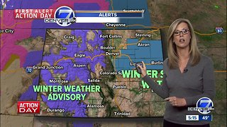 Rain and snow moving into Denver Monday night - Video