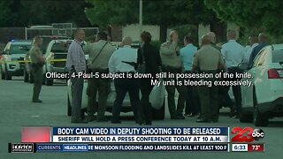 Body cam video in deputy shooting to be released