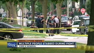 4 teens, 1 woman stabbed during fight in Milwaukee park - Video