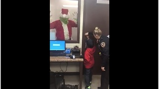 Little Boy Saves Christmas By Calling The Police And Locking Up The Grinch - Video