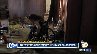 San Diego rape victim's home trashed, insurance claim denied - Video