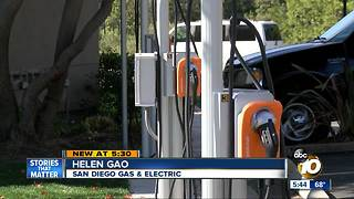 SDG&E provides electric car charging ports - Video