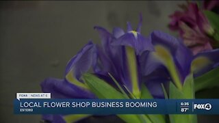 Local floral shops booming