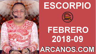 ESCORPIO FEBRERO 2018-09-25 Feb al 3 Mar 2018-Amor Solteros Parejas Dinero Trabajo-ARCANOS.COM - Video
