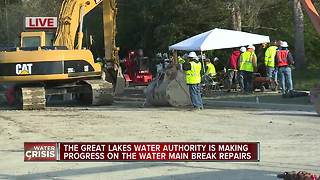 Water main repairs underway in Oakland County - Video
