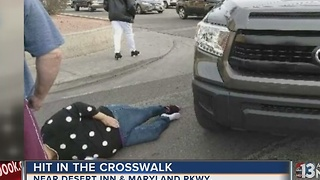 Woman run down in crosswalk near Desert Inn, Maryland - Video