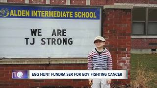 Easter Egg Hunt for boy battling terminal cancer - Video