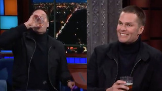 Tom Brady Is The GOAT Of Chugging Beer - Video