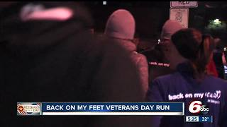 Back on my Feet is a group that helps homeless veterans by empowering them through running - Video