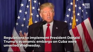 Trump Reverses Obama, Tightens Embargo on Cuba - Video