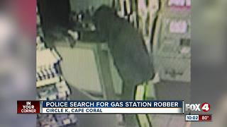 Police Search for Gas Station Robber - Video