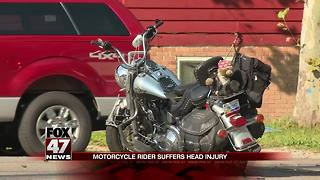 Intersection open after car vs. motorcycle crash sends biker to hospital