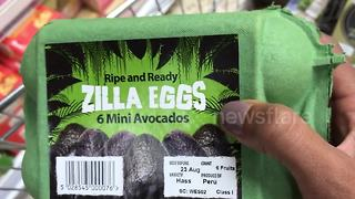 "British supermarket sells avocados as ""Zilla Eggs"" - Video"