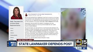 State Rep. Townsend calls out 'topless woman' from Phoenix women's march - Video