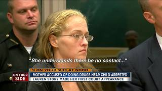 Mother accused of doing drugs near child