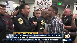 After more disruptive protests, National City Police Chief defends death investigation - Video