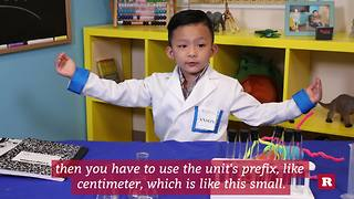 Anson Wong, boy genius, explains the metric system | Anson's Answers - Video