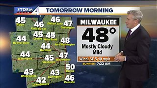 Partly cloudy, lows in the 40s Monday night - Video
