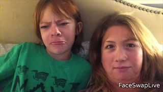 Mother Daughter Hilarious Face Swap - Video