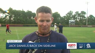 Jack Daniels returns to sidelines