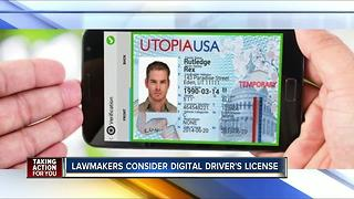 Lawmakers consider digital driver's license - Video
